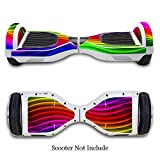 SKINOWN Self Balance Two Wheel Balance Board Hover Scooter Sticker Protective Skin Wrap Adhesive Vinyl Decal Cover Colorful Lines