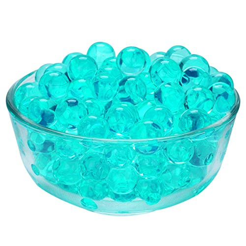 Water Pearls Gel Beads- Wedding & Event Centerpieces- Cosmo Beads (Tm)-Makes 3 Gallons (4 Oz. Pack) (Turquoise) (Aqua Water Beads)