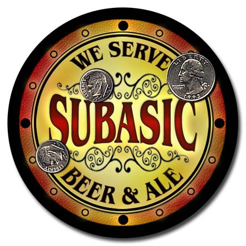 Subasic Family Name Beer & Ale Neoprene Coasters - Set 4pcs