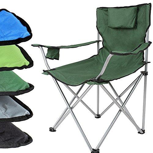 Anglersessel Campingstuhl Klappstuhl in verschiedenen Farben inkl. Getränkehalter und Tragetasche