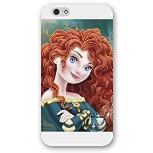 Customized White Frosted Disney Brave Princess Merida Case Cover For LG G2 Case, Only fit Iphone 5/5S