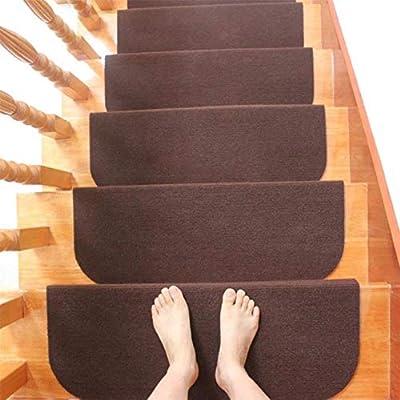 1/4 / 8pcs / set Alfombrillas para escaleras Alfombra adhesiva antideslizante Peldaños para escaleras Alfombras para escaleras