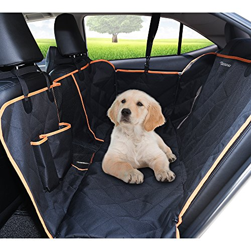 Seat Padded Fan - DADYPET Dog Car Seat Covers,Waterproof Car Seat Cover for Dogs Pet Car Seat Cover 600D Heavy Duty Scratch Proof Nonslip Durable Soft Dog Car Hammock for Cars,Trucks and SUVs