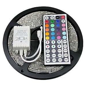 Leedfsw 5M 150X5050 SMD RGB LED Strip Light with 44Key Remote Controller (DC12V)