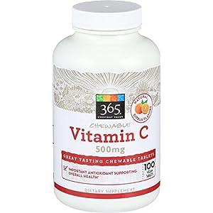 365 Everyday Value, Vitamin C Chewable 500mg Orange Flavor, 100 ct
