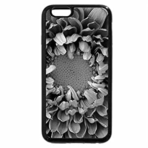 iPhone 6S Case, iPhone 6 Case (Black & White) - Flower Bloom