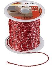 kwb 9251-20 metselaarsnoer 100 meter, 1,2 mm, rood, m x