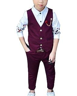 Hose Bekleidungsset Baby Kinder Kinderanzug Junge Anzug Quge Kinderanzug Jungen Gentleman 2 Pcs Weste