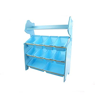 Yamart Toys for 4-5 Years Old Boy and Girl, Toddler's Toy Storage Organizer with 9 Plastic Shelf Drawer for Kid's Bedroom Playroom,Blue: Toys & Games