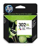 HP 302XL High Yield Tri-colour Original Ink Cartridge - Cyan/Magenta/Yellow, Pack of 1