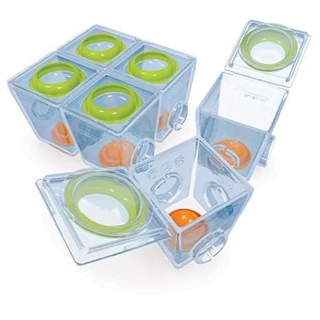 Brother Max 70032ML2 - Botes para 1ª fase de alimentación infantil, división en raciones, aptos para congelador y microondas, incluye rotulador para ...