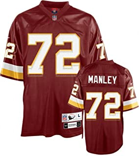 uk availability ca9bf 9f02b Dexter Manley Reebok NFL Red Premier Throwback Washington ...