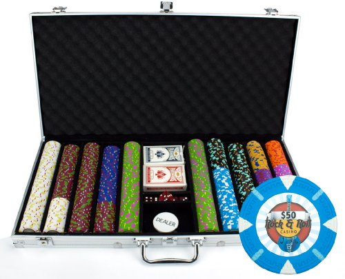 Claysmith Gaming 750-Count 'Rock & Roll' Poker Chip Set in Aluminum Case, 13.5gm by Claysmith Gaming