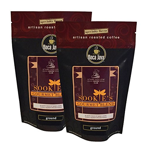 Gilmore Girls Coffee, Sookie's Gourmet Blend, Stars Hollow Coffee Collection, Kahlua and Caramel Flavored Coffee, Ground, 8oz (2 Pack) ()