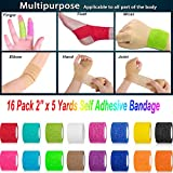 "【16-Pack】 2""x 5 Yards Self Adhesive Bandage"