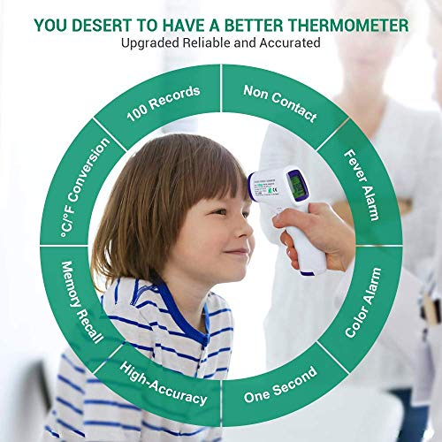 51cj An9tUL - Forehead Thermometer For Adults/Kids, Non Contact Infrared Thermometer For Fever, Medical Thermometer, Precise Digital Forehead Body Thermometer For Adults Kids And Baby, Easy To Read At Night