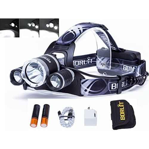 8f0da9614dcf 80%OFF Boruit LED Headlamp RJ-3000 PLUS Head Lamp 3XMK-T6 ...