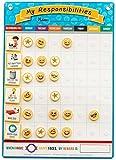 my star chart - My Responsibilities Emoji Chore Chart - Kids Responsibility Chart