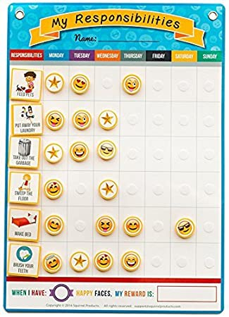 Amazon.Com: My Responsibilities Emoji Chore Chart - Kids