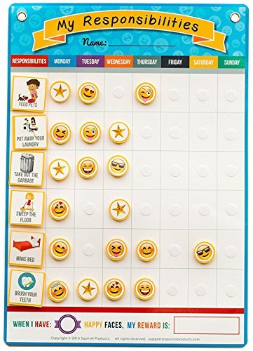 My Responsibilities Emoji Chore Chart - Kids Responsibility Chart (Child Ages And Stages Of Development Charts)