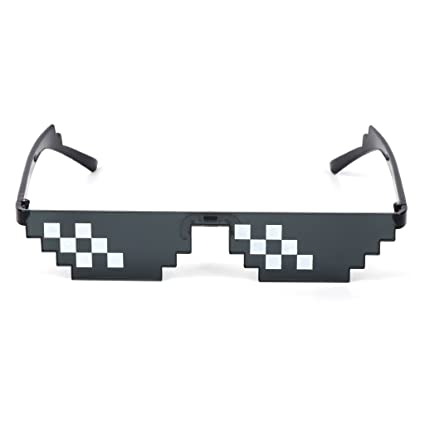 Runrain Thug Life - Gafas de sol para mujer, color negro ...