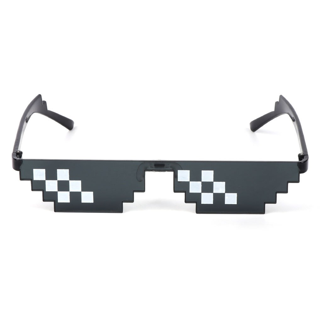 UJuly Black Funny Mosaic Sunglasses Toy for Kids Party Supplies Cool Mischievous Decoration for Men Women Adults by UJuly (Image #4)
