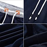 FoxQ Mens Sweat Shorts with Zipper Pockets Casual