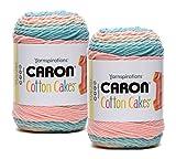 Bulk Buy: Caron Cotton Cake 2-Packs ~ 3.5 oz. Skeins (Morning Dew #49013)
