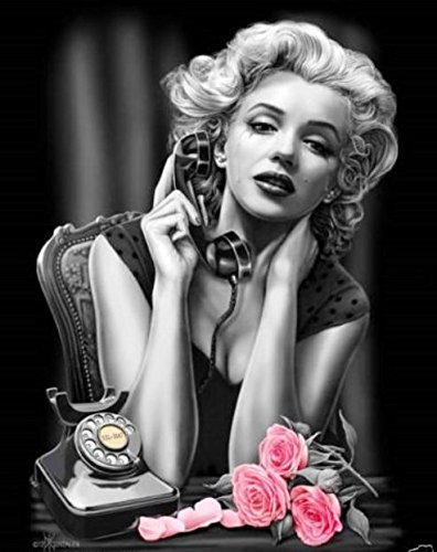 DGA Marilyn Monroe Stretched Canvas Wood Framed Wall Art 12x16 Inches - Heartbreaker