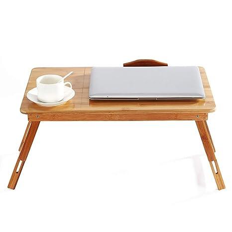 AXIANQIDesk Escritorio Plegable De Bambú, Mesa Plegable ...