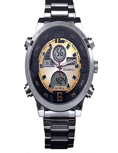 Marcas de lujo relojes hombres Conduit banda muñecas Militar Digital Relojes Hombres Reloj Hombre: Amazon.es: Relojes