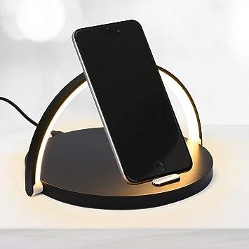 LED Nachttischlampen mit induktiver Ladestation und Touch Dimmer Leselampen Buch