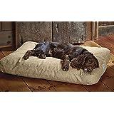Orvis Toughchew Comfortfill Platform Dog Bed / Large Dogs 60-90 Lbs., Herringbone,