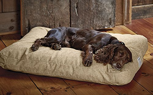 Orvis Toughchew Comfortfill Platform Dog Bed / Medium Dogs Up To 40-60 Lbs., Herringbone by Orvis