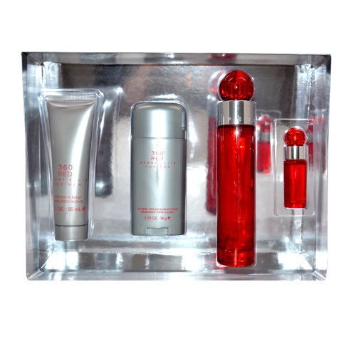 (360 Red by Perry Ellis for Men, 4 Count)