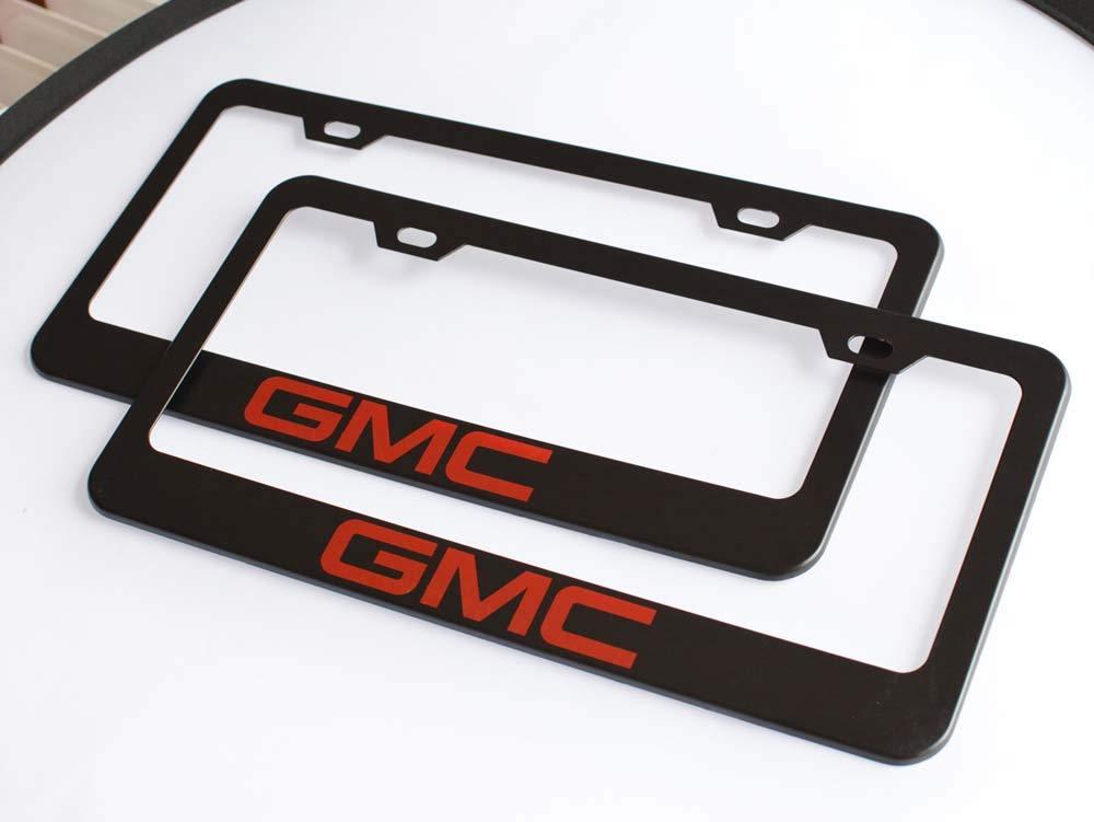 Fubai Auto Parts 2pcs M Motorsport Stainless Steel License for BMW Plate Frame with Screw Caps Cover Set Matte Black