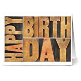 24 Birthday Note Cards - Birthday Wishes - Blank Cards - Kraft Envelopes Included