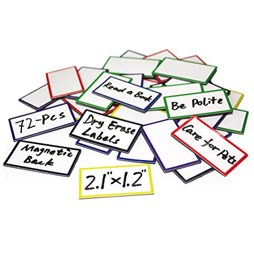 (72-Pcs Magnetic Dry Erase Labels Name Plates 2.1