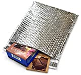 50 Pack Cool Shield Bubble Mailers 8x11. Thermal Padded Envelopes 8 x 11. Cushion Food Mailers. Peel and Seal. Thermal Shipping Bags for Mailing, Packing. Packaging in Bulk, Wholesale Price.