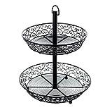 King Electric BKT2A Table Craft 2 Tiered Display Basket, Mediterranean Series