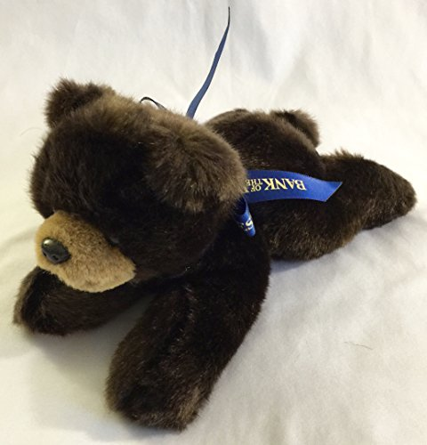 "8"" Bank of the West Chocolate Bear Plush"