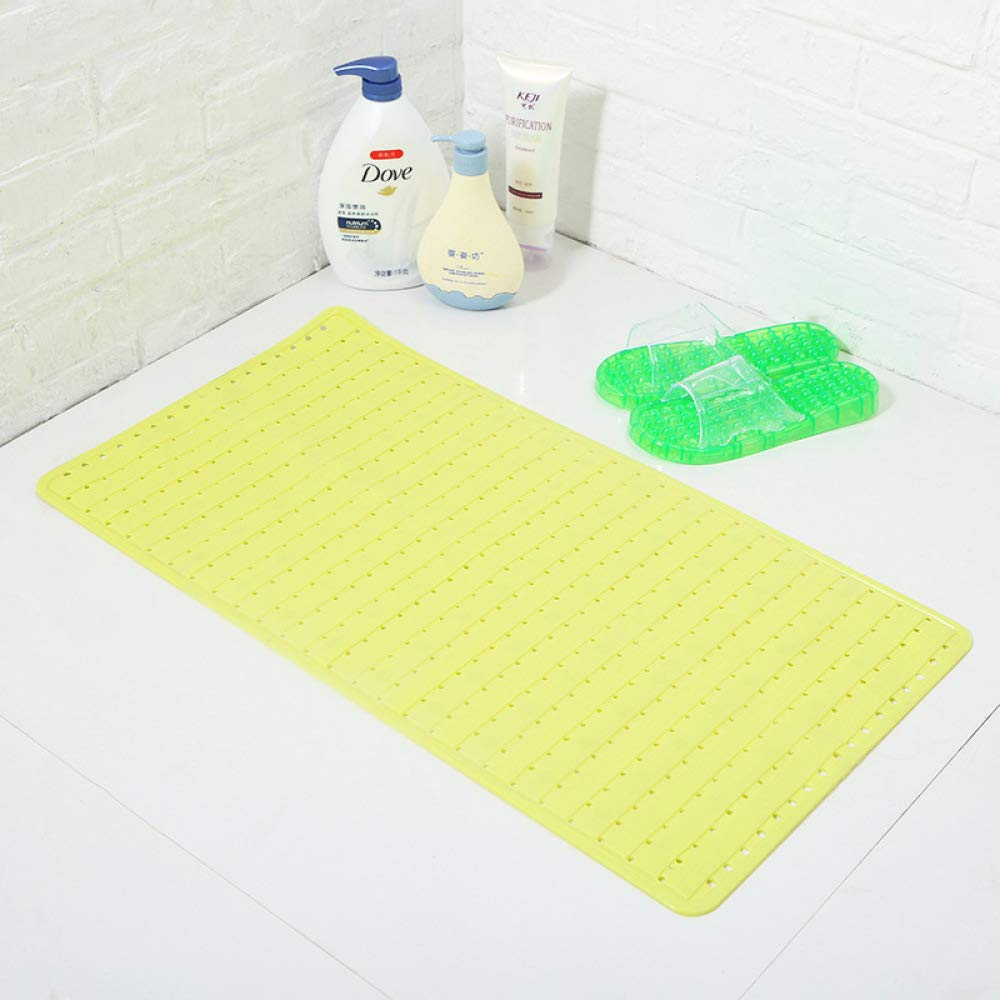 PLLP Long Strips of Tasteless Bathroom Mats, Hotel Bathroom Oval Mat Shower Room Mats,Light Yellow,6837cm