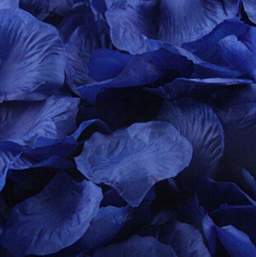 Liroyal Big Value Rose Petals, 1000-Piece, Navy -