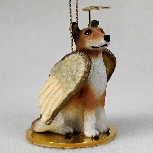 Collie Angel Dog Ornament - Smooth (Angel Ornament Dog Collie)