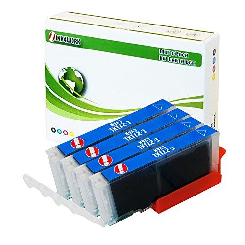 INK4WORK 4 Pack Compatible CLI-271 XL CLI271XL Cyan Ink Cartridge For PIXMA MG5720 MG5721 MG5722 MG6820 MG6821 MG6822 MG7720 TS5020 TS6020 TS8020 TS9020