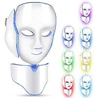 Filfeel Máscara LED Cuello de la Cara Anti Arrugas Eliminación de acné Máquina de rejuvenecimiento de la Piel 7 Luces de Color Facial Salon Cuidado de la Piel Herramientas Aprobado por la Fda