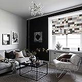 "KARUILU home Quick Fix Washable Roman Window Shades Flat Fold, Custom any width from 14"" to 70"", Geometric Color Pattern (27W x 63H, Urban)"