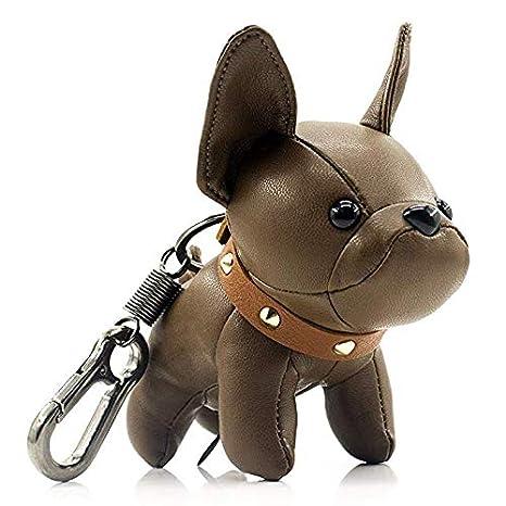 Fashionable Cute PU Dog Pendants Key Ring Keychain Handbag Car Decorations Gifts