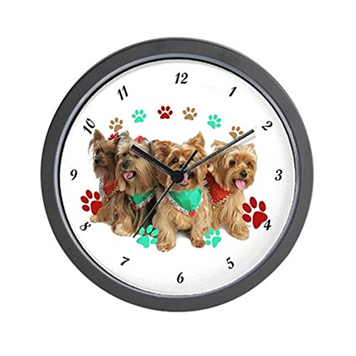 - CafePress - Yorkie Can't Have Just One Wall Clock - Unique Decorative 10