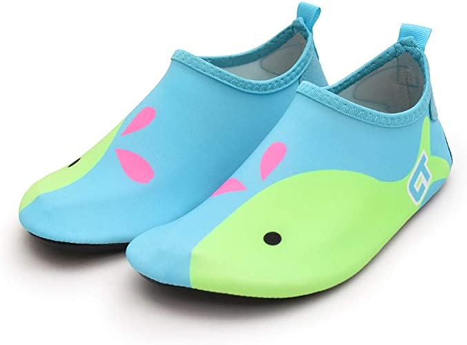 Adorllya Kids Swim Water Shoes Water Socks for Boys Girls Quick Dry Non-Slip for Boys /& Girls 3-4 M US Toddler